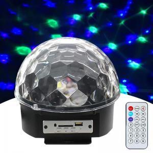 Bluetooth LED DJ Disco Light Sound Control Stage Lights RGB Magic Crystal Ball Lamp Projector Effect