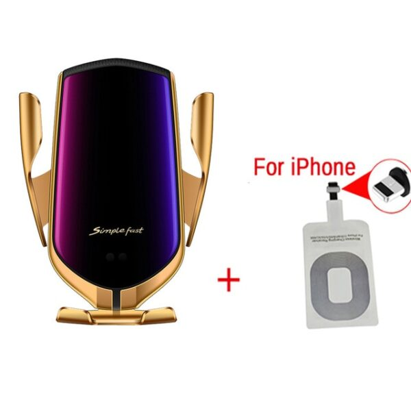 Smart Sensor Wireless Car Charger QI 10W Fast Charging Holder Compatible For iPhone Xs Xs Max 1.jpg 640x640 1
