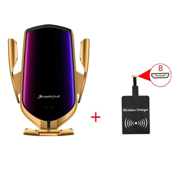 Smart Sensor Wireless Car Charger QI 10W Fast Charging Holder Compatible For iPhone Xs Xs Max 2.jpg 640x640 2