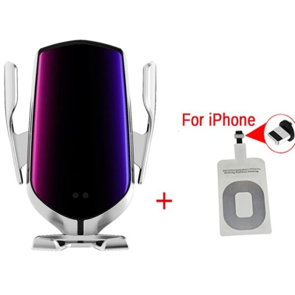 Smart Sensor Wireless Car Charger QI 10W Fast Charging Holder Compatible For iPhone Xs Xs Max 3.jpg 640x640 3