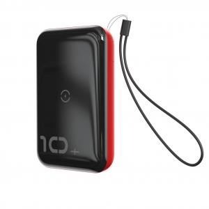eng pl Baseus Mini S Bracket Power Bank 10000mAh 18W with Wireless Charger Qi 10W red PPXFF10W 19 51496 10