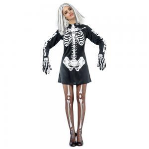 halloween costumes for females sceleton girl xssml black white