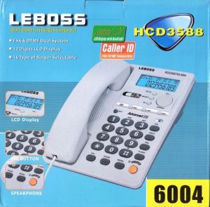 leboss60041. leboss adopt micro electric with caller id fsk dtmf compatible telephone hcd3588 6004