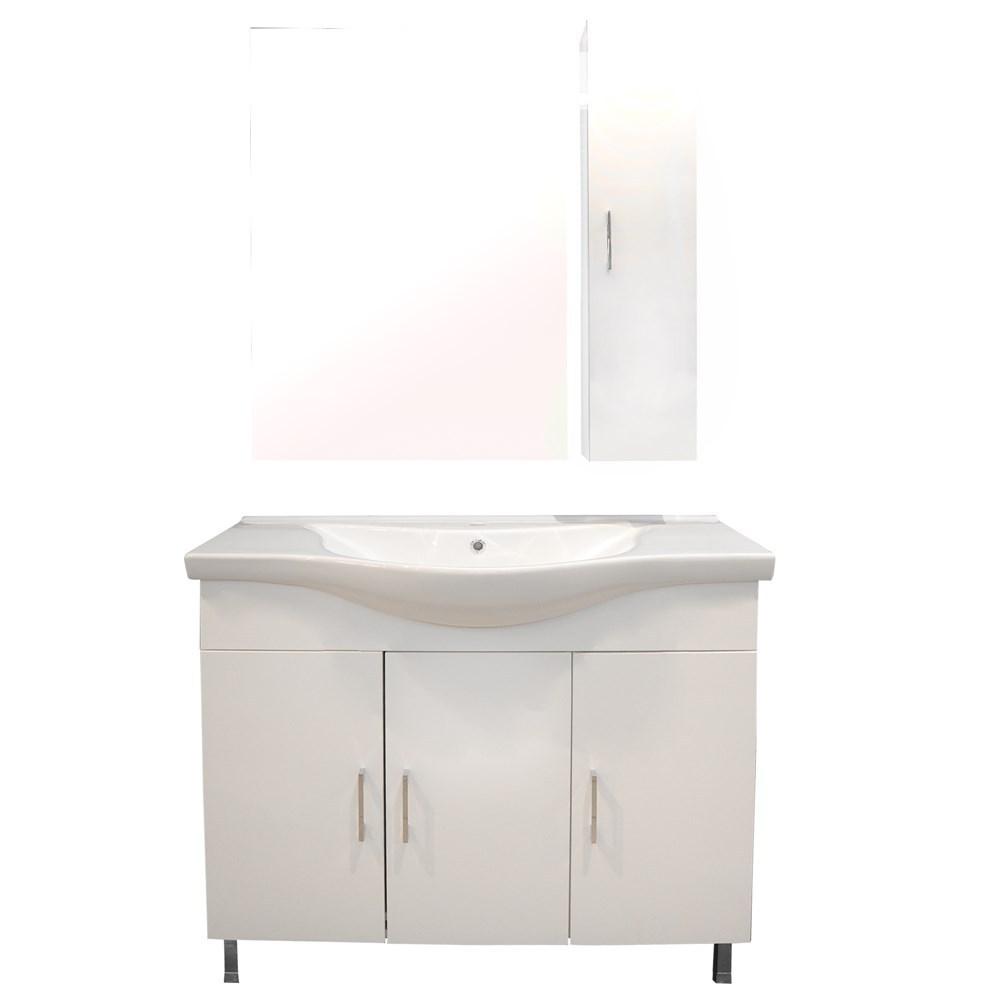 Mobilje tualeti ALBA 100 DROP melamine e bardhe 224354 1