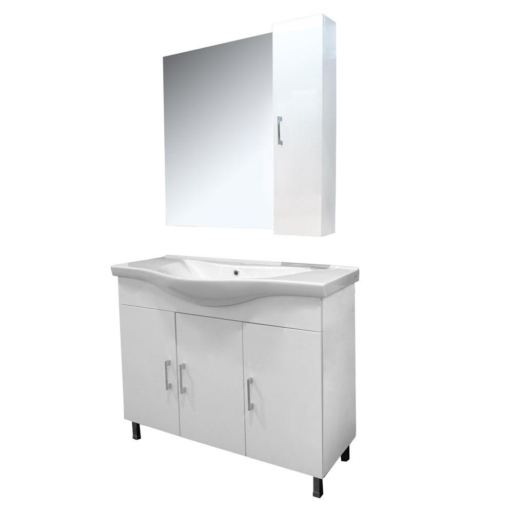 Mobilje tualeti ALBA 100 DROP melamine e bardhe 224354 2