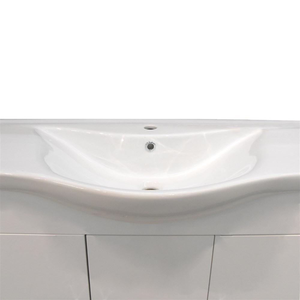 Mobilje tualeti ALBA 100 DROP melamine e bardhe 224354 4