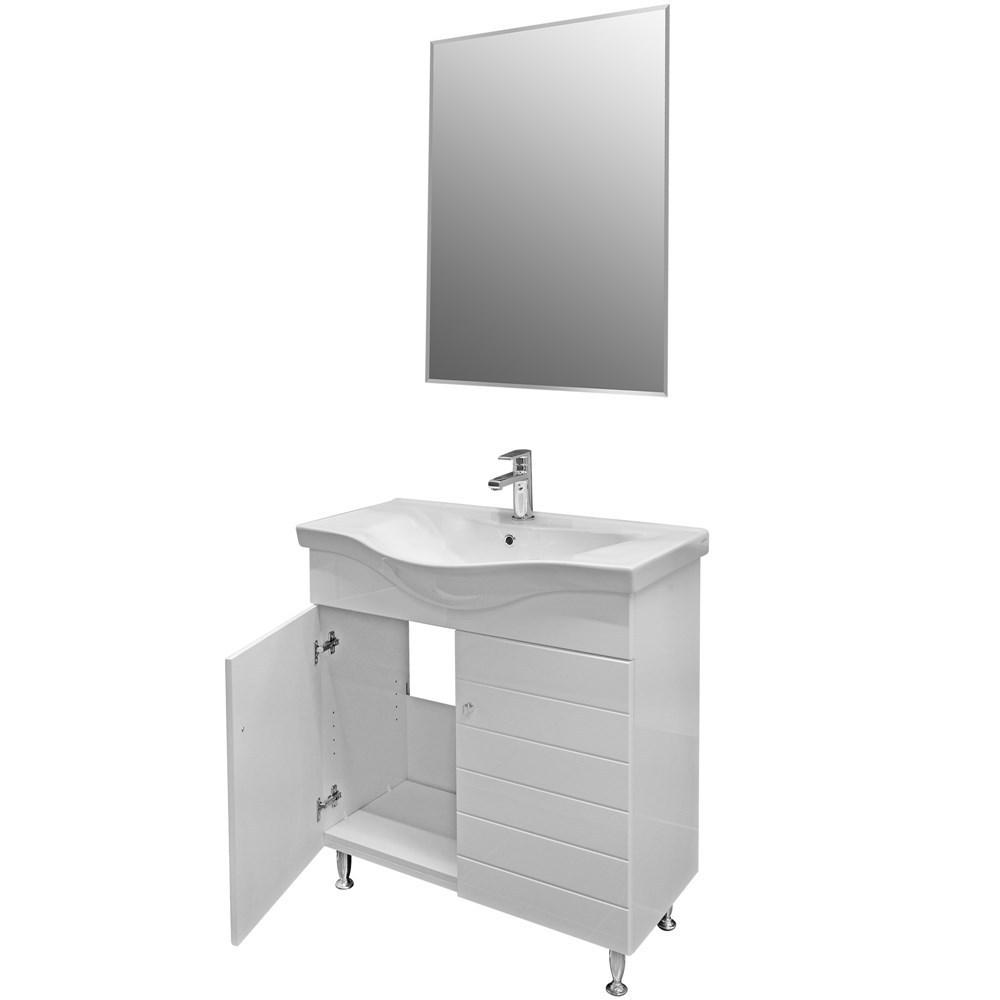 Mobilje tualeti CAPRI 80 DROP MDF E bardhe 222183 2