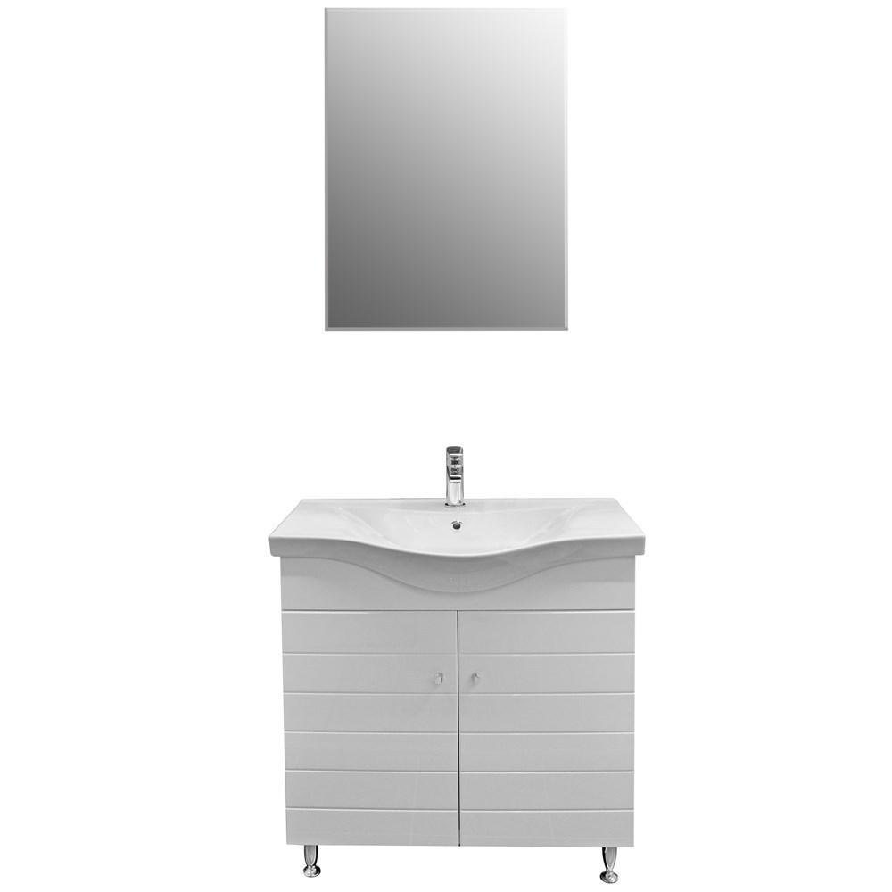 Mobilje tualeti CAPRI 80 DROP MDF E bardhe 222183 3