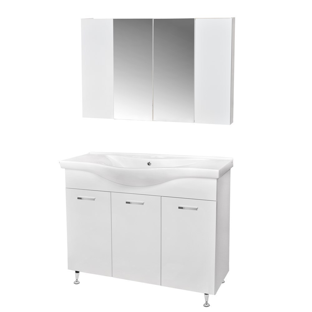 Mobilje tualeti LUNA 100 DROP melamine e bardhe 223060